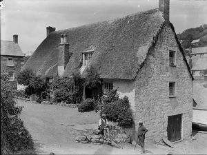 Thatched cottage, Cadgwith, Cornwall. 1908