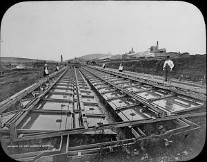 Tin dressing frames, Dolcoath Mine, Camborne, Cornwall. Late 1800s