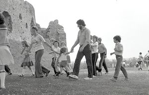 Toddler Trot, Restormel Castle, Lostwithiel, Cornwall. May 1980