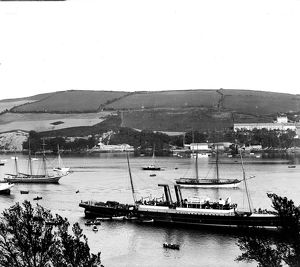 Vessels at Polruan, Cornwall. 1904