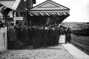 Welcoming party on Padstow railway station on opening day, the 27th March 1899