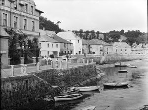 Western end of the sea front, St Mawes, Cornwall. Probably 29th June 1912
