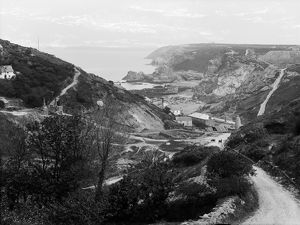 Wheal Friendly Mine, Trevaunance Cove, St Agnes, Cornwall. 1895