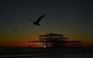 BRITAIN-WEATHER-OFFBEAT-BRIGHTON