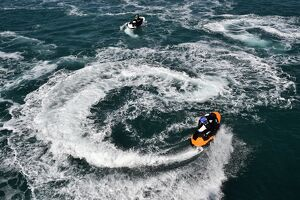 BRITAIN-WEATHER-OFFBEAT-JETSKI