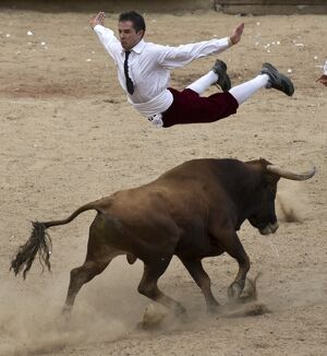 COLOMBIA-BULLFIGHTING-RECORTADORES