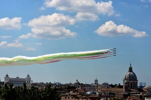 THE ITALIAN AIR FORCE AEROBATIC UNIT, FRECCE TRICOLORI