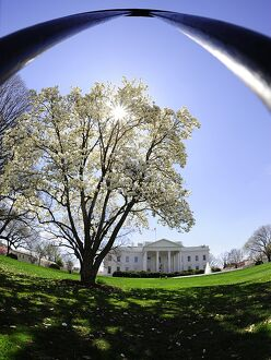 This March 30, 2009 photo shows the North side of the White House in Washington, DC