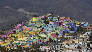 MEXICO-VIOLENCE-PAINTED HOUSES