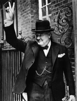 Sir Winston Churchill V Sign