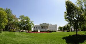 The White House is seen in Washington, DC on April 23, 2009