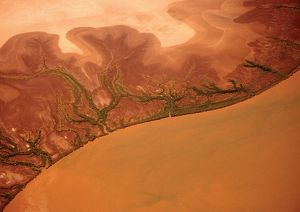 Aerial shot of the Western Australian outback