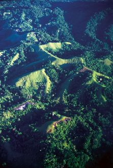 Aerial view. Solomon Islands, 1979.