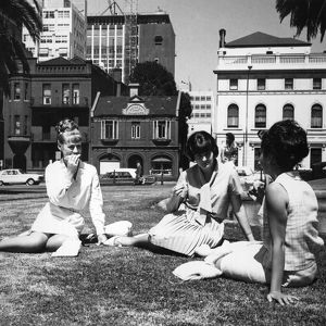 Lunch in the park. Life in Australia Series: Melbourne. 1966.