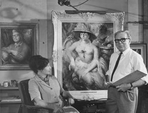 Margaret Olley and William Dobell. Painting People, 1965.