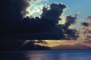 Sky and Sea. Solomon Islands, 1979.