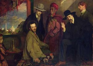 artists/jacques emile blanche/andre gide 1869 1951 friends cafe maure exposition