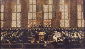 The Appeal of the Dissident Bishops at the Sorbonne, 5th March 1717 (oil on canvas)