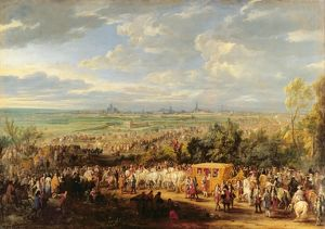 The Entry of Louis XIV (1638-1715) and Marie-Therese (1638-83) of Austria in to Arras