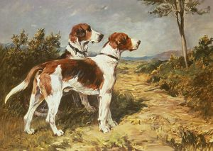 Two Hounds in a Landscape