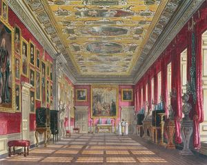 The King's Gallery, Kensington Palace from Pyne's 'Royal Residences&#39