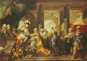 Louis XVI (1754-93) King of France, Receiving the Homage of the Knights of the Order of St