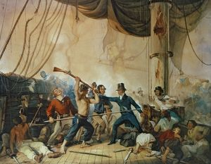 The Melee on Board the Chesapeake, 1813