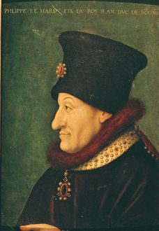Philippe of France (1342-1404) Duke of Burgundy (oil on panel)