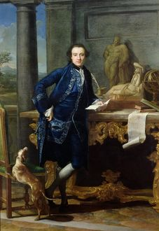 Portrait of Charles John Crowle (1738-1811) of Crowle Park, c.1761-62 (oil on canvas)