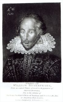 Portrait of William Shakespeare (1564-1616), engraved by Robert Dunkarton (1744-1817)