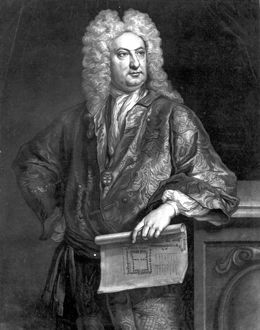 Sir John Vanbrugh, engraved by John Faber the Younger, 1727 (mezzotint)