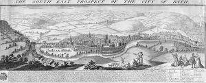 The South East Prospect of the City of Bath, 1734 (engraving)