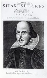 Titlepage of 'Mr. William Shakespeares Comedies, Histories and Tradgedies&#39