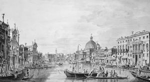 View of the Grand Canal, Venice, c.1800 (pen & ink wash)