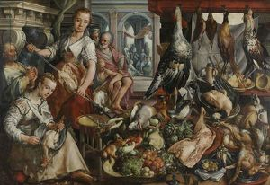 The Well-stocked Kitchen, 1566 (oil on panel)