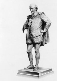 William Shakespeare (1564-1616), after the statue by John Quincey Adams Ward (1830-1910)