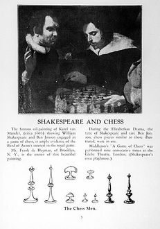 William Shakespeare (1564-1616) and Ben Jonson (1572-1637) Engaged in a Game of Chess