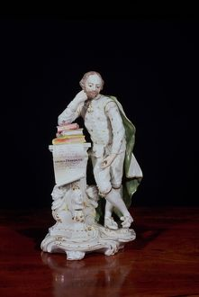 William Shakespeare, based on the monument in Westminster Abbey, c