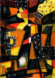 1-5 Football, Susan Szikra 2016, Abstract art