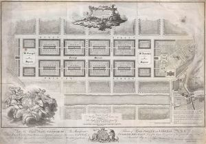 1768, James Craig Map of New Town, Edinburgh, Scotland, First Plan of New Town