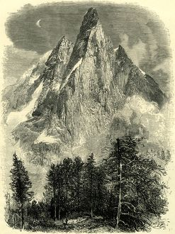 THE AIGUILLE DE DRU FROM NEAR THE MONTANVERT, Switzerland