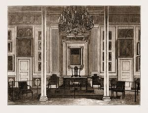 THE AMERICAN CENTENNIAL EXHIBITION, 1876: ROOM IN INDEPENDENCE HALL WHERE THE DECLARATION
