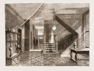 THE AMERICAN CENTENNIAL EXHIBITION, 1876: INTERIOR OF THE BRITISH COMMISSION BUILDING