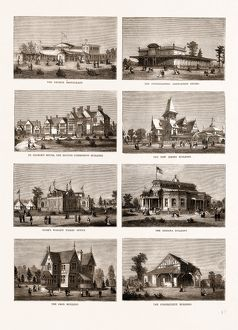 THE AMERICAN CENTENNIAL EXHIBITION: BUILDINGS IN THE GROUNDS OF FAIRMOUNT PARK