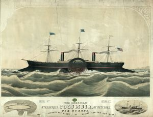 The American steamship Columbia, of New York for Europe; W