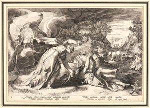 Anonymous after Hendrick Goltzius (Dutch, 1558 - 1617). Juno Turning Callisto into a Bear