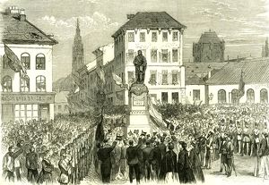 Antwerp; Belgium; Inauguration of the Statue of Teniers; 1867; Antwerpen; Anvers