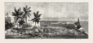 THE ASHANTEE WAR, READING THE QUEEN'S LETTER AT THE PALAVER OF KINGS AT ACCRA