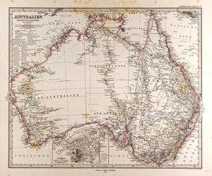 Australia Map Gotha, Justus Perthes, 1872, Atlas