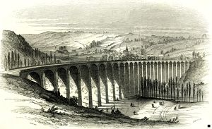 The Barentin Viaduct; France; 1847; Opening of the Rouen and Havre Railway